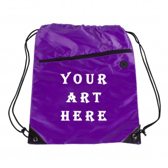 Purple Backpack with Zipper Pocket