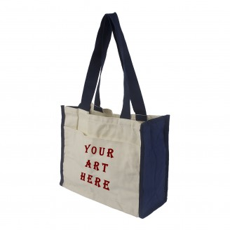 Cotton Long Shoulder Strap Tote Bag