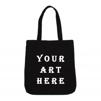 Black Zippered Canvas Tote Bag