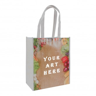 "12"" L x 6.5""W x 14""H Laminated Tote Bag"