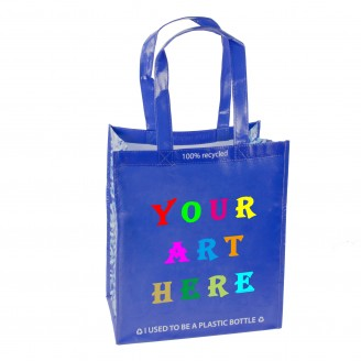 "13"" L x 7.5""W x 15""H Laminated Tote Bag"