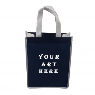 "9"" W x 12""H x 4.5""D Laminated Tote Bag"