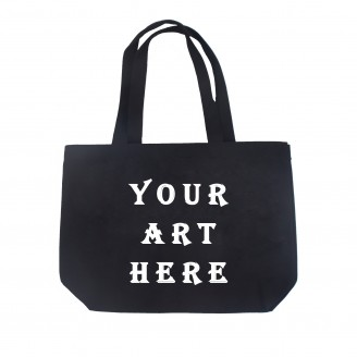 Black Non Woven Shopper Tote Bag
