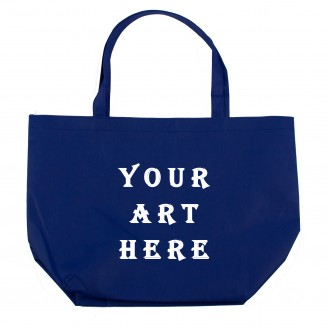 Blue Non Woven Shopper Tote Bag