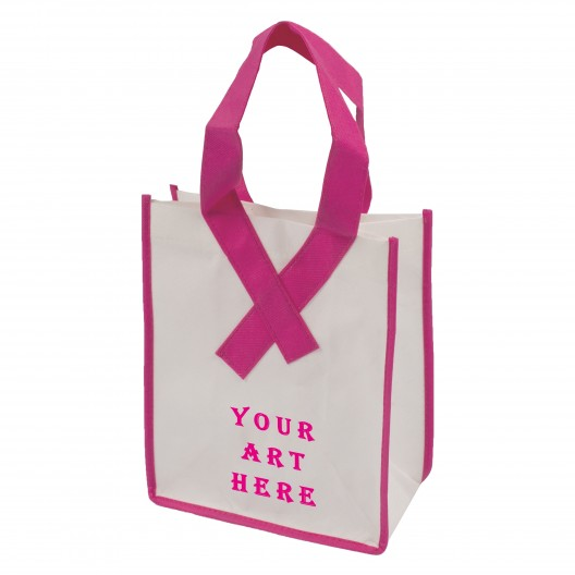 Awareness Ribbon Non Woven Shopper Tote Bag