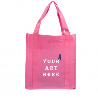 "20"" Double Reinforced Handles Non Woven Shopper Tote Bag"